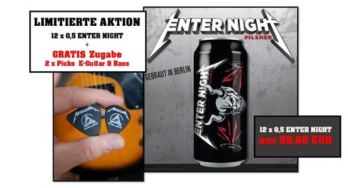 12 x ENTER NIGHT - Pilsner 0,5L AKTIONSPAKET + 2 Picks