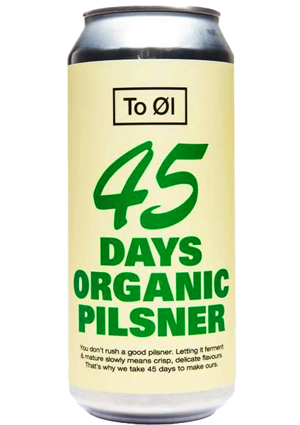 To Øl 45 Days Organic Pilsener 0,44L